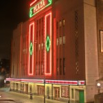 Stockport Plaza Principal Facade at night_restored
