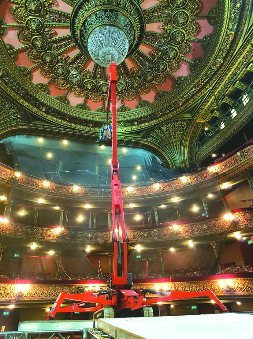 Leeds Grand Theatre crane